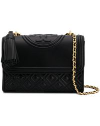 Tory Burch Fleming Convertible Shoulder Bag - Black