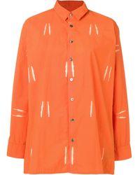 Suzusan ブリーチシャツ - オレンジ