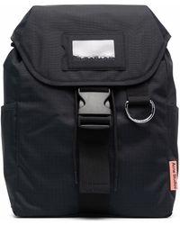 Acne Studios Grid-pattern Buckled Backpack - Black