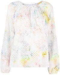 Lala Berlin Binia Rainbow-print Blouse - White