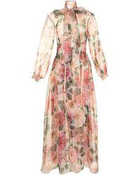 Dolce & Gabbana Полупрозрачное Пальто С Цветочным Принтом - Розовый