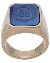 tout neuf 6098c c4455 Chevalière à Logo - Bleu