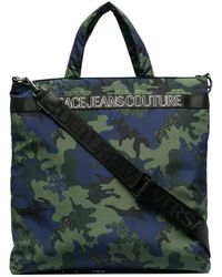 Versace Jeans Couture カモフラージュ トートバッグ - グリーン