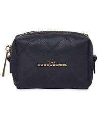 Marc Jacobs Pochette zippée à plaque logo - Bleu