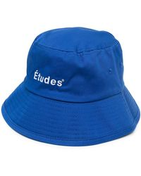 Etudes Studio ロゴ バケットハット - ブルー