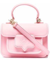 Chiara Ferragni Embossed-logo Leather Satchel - Pink