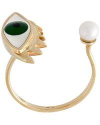 Delfina Delettrez 'eye Piercing' Ring - Groen