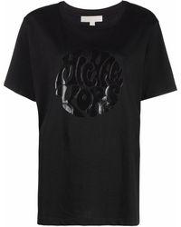 MICHAEL Michael Kors エンボスロゴ Tシャツ - ブラック