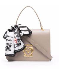 Love Moschino ロゴ ハンドバッグ - グレー