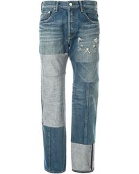 Tu Es Mon Tresor Antique Patchwork Jeans - Blue