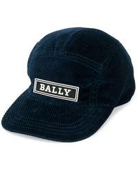 Bally コーデュロイ キャップ - ブルー