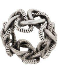 Saint Laurent Кольцо Цепочного Дизайна - Металлик