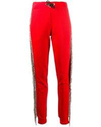 Philipp Plein Джоггеры С Кристаллами - Красный