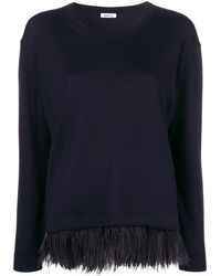 P.A.R.O.S.H. Feather Hem Sweater - Blue