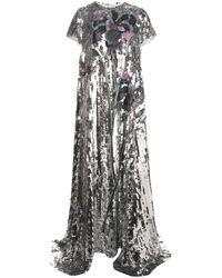 Carolina Herrera Sequined Metallic-effect Gown