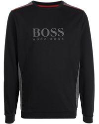 BOSS by HUGO BOSS ロゴ スウェットシャツ - ブラック