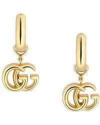 Gucci GG Running Yellow Gold Earrings - Металлик