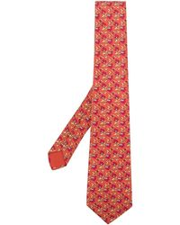 Hermès Pre-owned Patterned Tie - Yellow