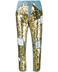 Don't Cry Sequin Embellished Jeans
