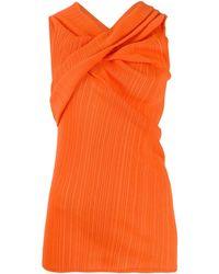 Nina Ricci - Top con tiras cruzadas en el cuello - Lyst