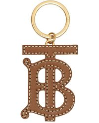 Burberry Monogram Motif Two-tone Leather Key Charm - Brown