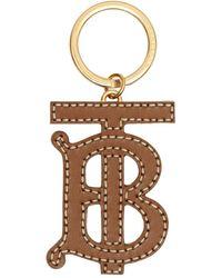 Burberry Monogram Motif Two-tone Leather Key Charm - Brown
