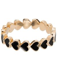 Alison Lou 14kt Yellow Gold Heart Ring - Multicolour
