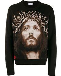 ih nom uh nit Jesus セーター - ブラック
