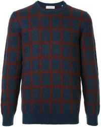 Gieves & Hawkes - Long Sleeved Checked Jumper - Lyst