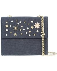 Christian Siriano - Floral Denim Crossbody Bag - Lyst
