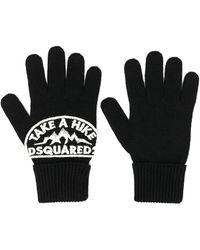 DSquared² Перчатки С Нашивкой-логотипом - Черный
