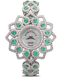 Backes & Strauss Наручные Часы Victoria Princess Emerald 36 Мм - Белый