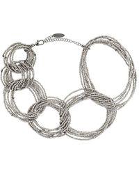 Brunello Cucinelli Ожерелье Из Бисера - Металлик