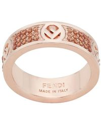 Fendi F Is Ring - Metallic