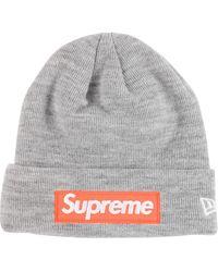 Supreme New Era Mütze mit Logo - Grau