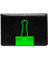 3eb6a089c2218 Off-White c o Virgil Abloh - Black Binder Clip Leather Wallet - Lyst