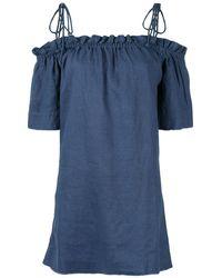 Venroy オフショルダー ドレス - ブルー