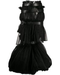 Comme des Garçons Caged Multi-belt Long Skirt - Black