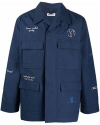 Reception Ripstop Embroidered Jacket - Blue