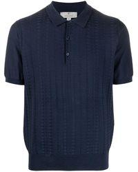 Canali Рубашка Поло С Вышивкой - Синий
