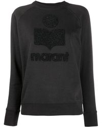 Étoile Isabel Marant Sweatshirt mit Logo - Schwarz