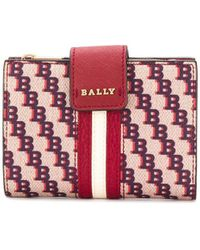 Bally モノグラム財布 - レッド