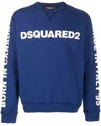DSquared² Sudadera con logo estampado - Azul