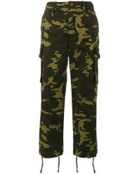 Proenza Schouler Pswl Camo Cargo Pants - Green