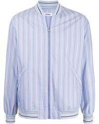 Coohem Stripe-print Bomber Jacket - Blue
