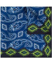 Etro Carre de poche imprimé - Bleu
