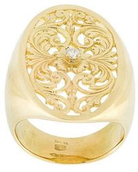 Wouters & Hendrix - Filigree Diamond Signet Ring - Lyst