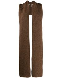Courreges Hooded Scarf - Brown