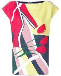 Arthur Arbesser - Floral Print Shift Top - Lyst