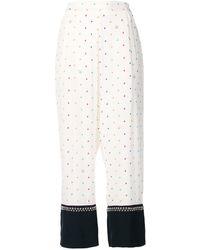 Stella McCartney Printed Studded Trousers - White